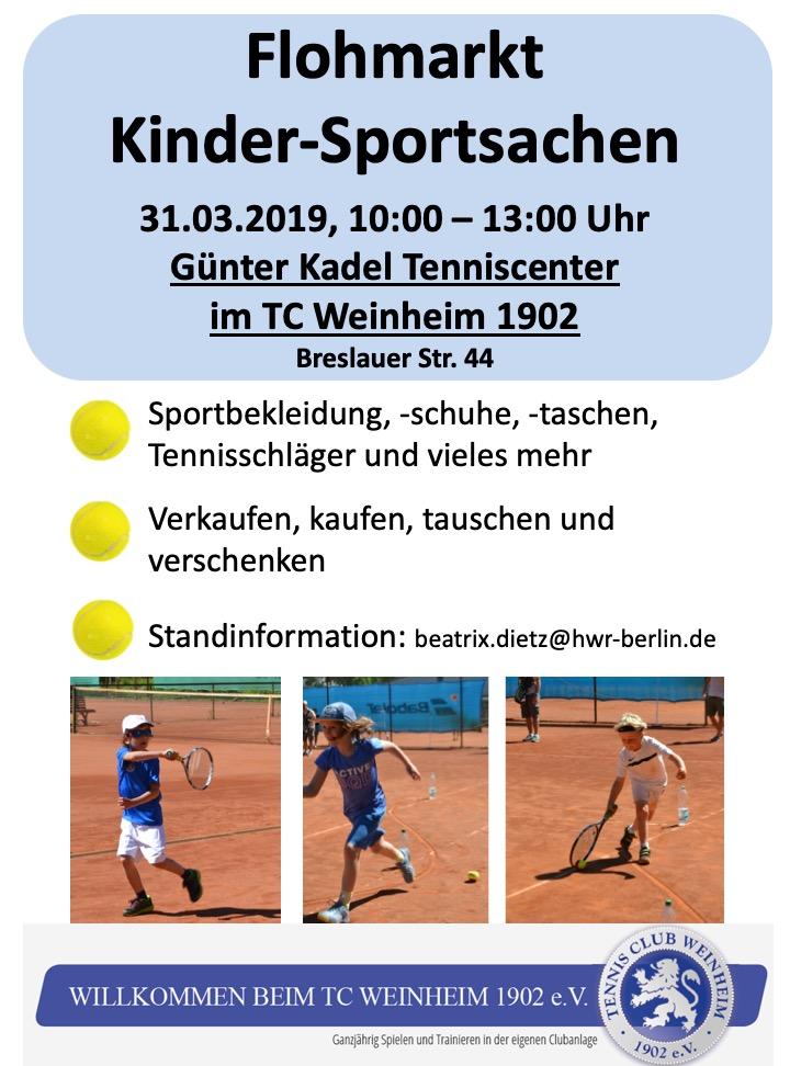 competitive price 68c93 b829a Flohmarkt Kinder-Sportsachen | TC Weinheim 1902
